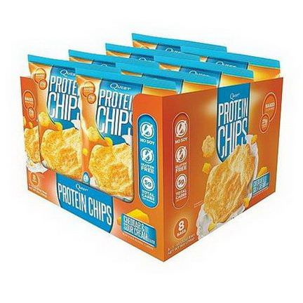 Quest Nutrition, Protein Chips, Cheddar&Sour Cream, 8 Bags 32g Each