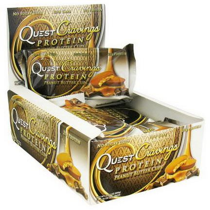 Quest Nutrition, Quest Cravings, Protein Peanut Butter Cups, 12 Packs 50g Each