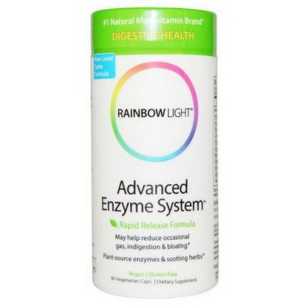 Rainbow Light, Advanced Enzyme System, Rapid Release Formula, 90 Veggie Caps