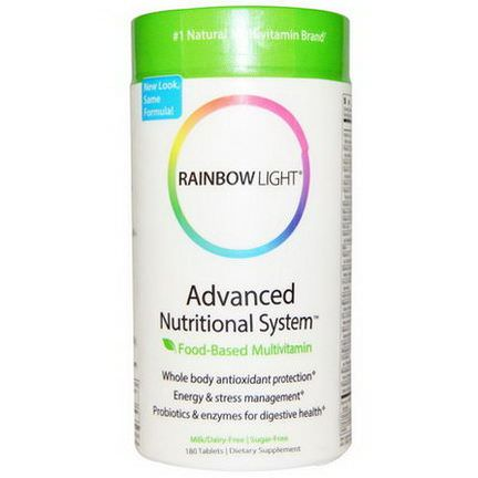 Rainbow Light, Advanced Nutritional System, Food-Based Multivitamin, 180 Tablets