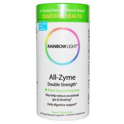 Rainbow Light, All-Zyme, Double Strength, 180 Rapid Release Capsules