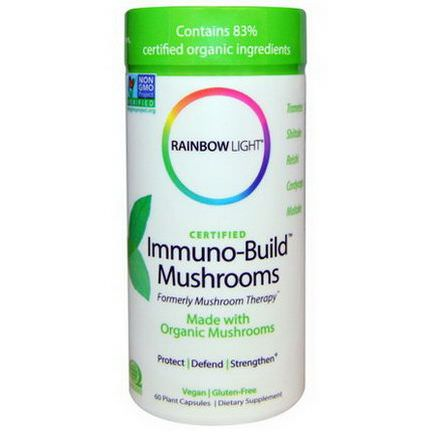Rainbow Light, Certified, Immuno-Build Mushrooms, 60 Plant Capsules