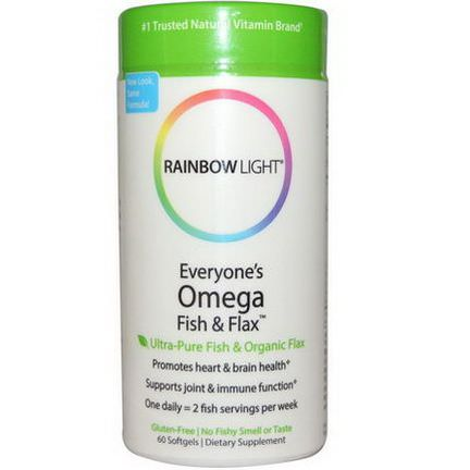 Rainbow Light, Everyone's Omega Fish&Flax Oil, 60 Softgels