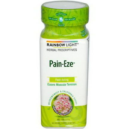 Rainbow Light, Herbal Prescriptive, Pain-Eze, 30 Tablets