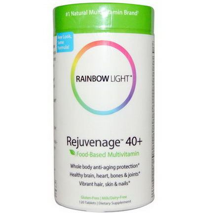 Rainbow Light, Rejuvenage 40+, Food-Based Multivitamin, 120 Tablets