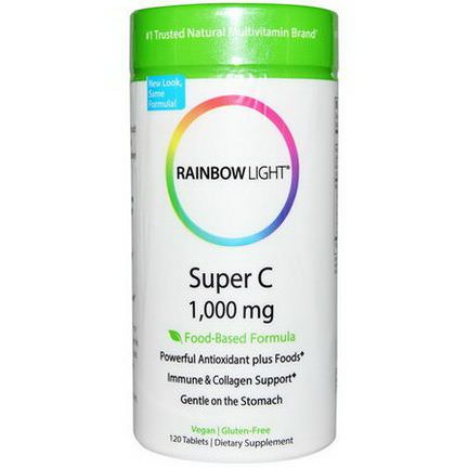 Rainbow Light, Super C, 1,000mg, 120 Tablets
