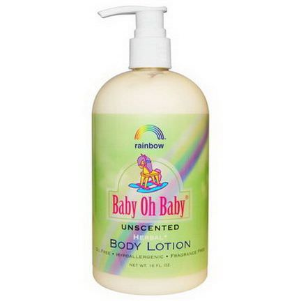 Rainbow Research, Baby Oh Baby, Body Lotion, Unscented, 16 fl oz