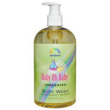 Rainbow Research, Baby Oh Baby, Herbal Body Wash, Unscented, 16 fl oz