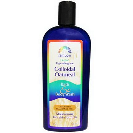 Rainbow Research, Colloidal Oatmeal Bath&Body Wash, Unscented Fragrance Free 360ml