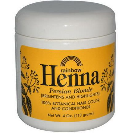 Rainbow Research, Henna, 100% Botanical Hair Color and Conditioner, Persian Blonde 113g Powder