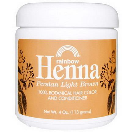 Rainbow Research, Henna, 100% Botanical Hair Color and Conditioner, Persian Light Brown 113g Powder