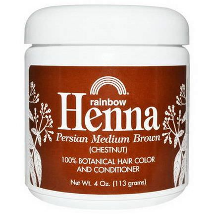Rainbow Research, Henna, 100% Botanical Hair Color and Conditioner Chestnut 113g