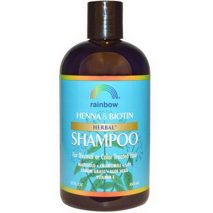 Rainbow Research, Henna&Biotin Herbal Shampoo 360ml