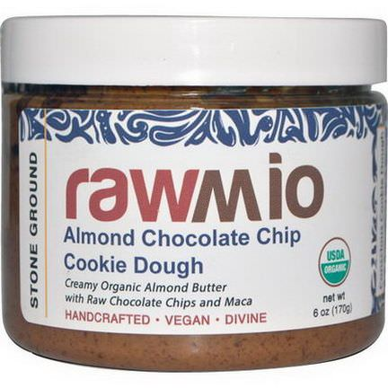 Rawmio, Almond Chocolate Chip Cookie Dough Spread with Maca 170g