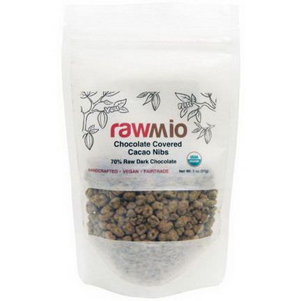 Rawmio, Chocolate Covered Cacao Nibs 57g