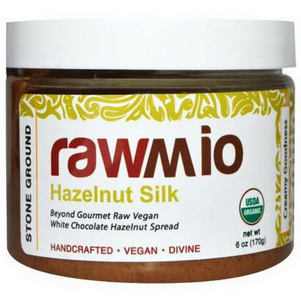 Rawmio, Hazelnut Silk, White Chocolate Hazelnut Spread 170g