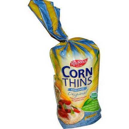 Real Foods, Organic Corn Thins, Original, 25 Slices 150g