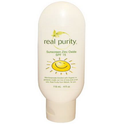 Real Purity, Sunscreen Zinc Oxide, SPF 15 118ml