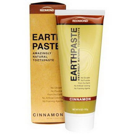 Redmond Trading Company, Earthpaste, Amazingly Natural Toothpaste, Cinnamon 113g