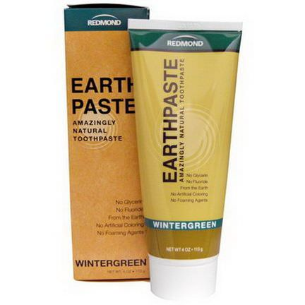 Redmond Trading Company, Earthpaste, Amazingly Natural Toothpaste, Wintergreen 113g