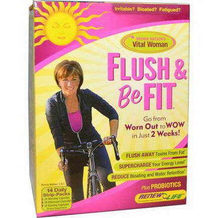 Renew Life, Flush&Be Fit, 14 Daily Strip-Packs