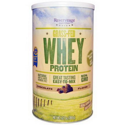 ReserveAge Nutrition, Grass-Fed Whey Protein, Chocolate Flavor 360g