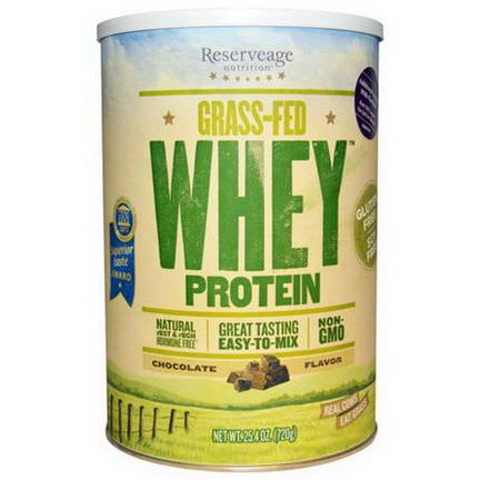 ReserveAge Nutrition, Grass-Fed Whey Protein, Chocolate Flavor 720g