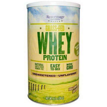ReserveAge Nutrition, Grass-Fed Whey Protein, Unflavored 316g