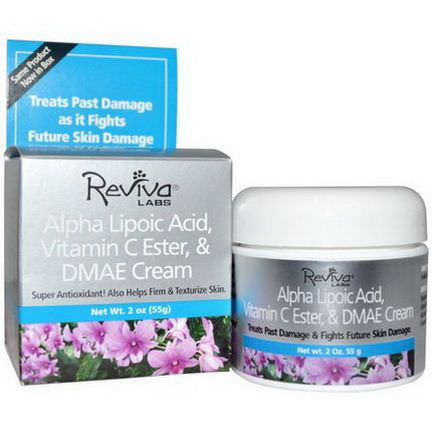 Reviva Labs, Alpha Lipoic Acid, Vitamin C Ester,&DMAE Cream 55g