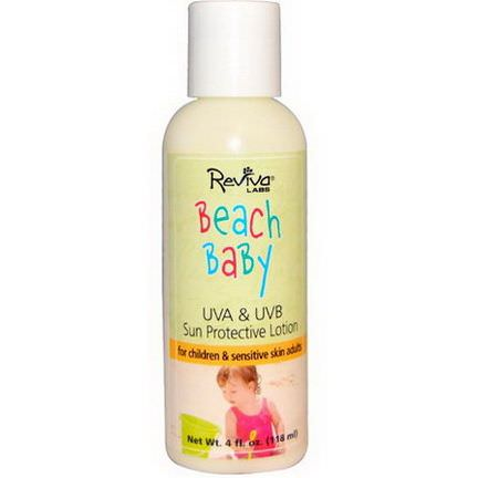 Reviva Labs, Beach Baby, UVA&UVB Sun Protective Lotion 118ml