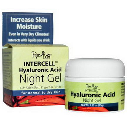 Reviva Labs, InterCell, Hyaluronic Acid Night Gel 35g