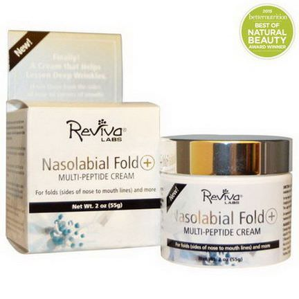 Reviva Labs, Nasolabial Fold+ Multi-Peptide Cream 55g