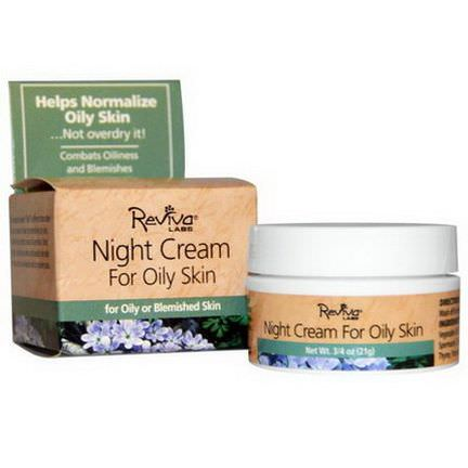 Reviva Labs, Night Cream, for Oily Skin 21g