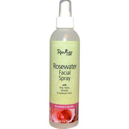 Reviva Labs, Rosewater Facial Spray, for Normal to Dry Skin 236ml