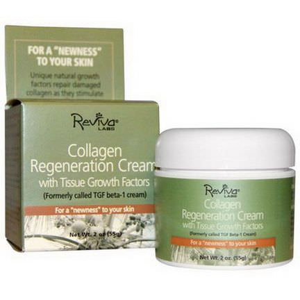 Reviva Labs, Collagen Regeneration Cream, With Tissue Growth Factors 55g