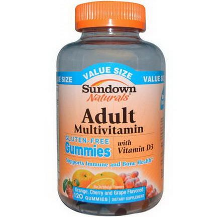 Rexall Sundown Naturals, Adult Multivitamin, Orange, Cherry and Grape Flavored, Gluten-Free, 120 Gummies