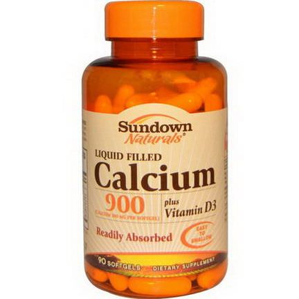 Rexall Sundown Naturals, Calcium 900, Plus Vitamin D3, 90 Softgels