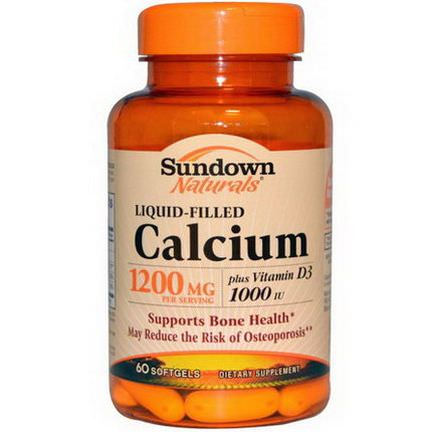 Rexall Sundown Naturals, Liquid-Filled Calcium, 1200mg, 60 Softgels