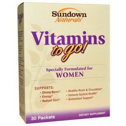 Rexall Sundown Naturals, Vitamins to Go! for Women, 30 Packets