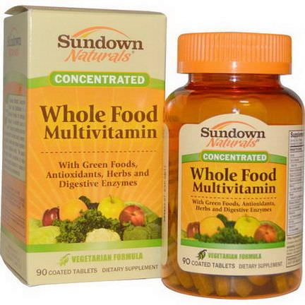 Rexall Sundown Naturals, Whole Food Multivitamin, 90 Coated Tablets