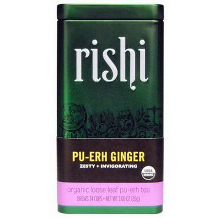 Rishi Tea, Organic Loose Leaf Tea, Pu-Erh Ginger 85g