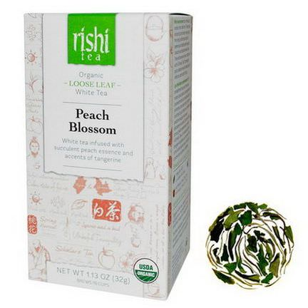 Rishi Tea, Organic Loose Leaf White Tea, Peach Blossom 32g