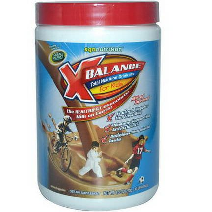 SGN Nutrition, X Balance, Total Nutrition Drink Mix, for Kids, Chocolate 270g
