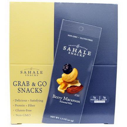 Sahale Snacks, Berry Macaroon Almond Mix, 9 Packs 42.5g Each