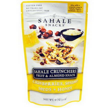 Sahale Snacks, Sahale Crunchers, Fruit&Almond Snack, Cranberries, Sesame Seeds Honey 113g