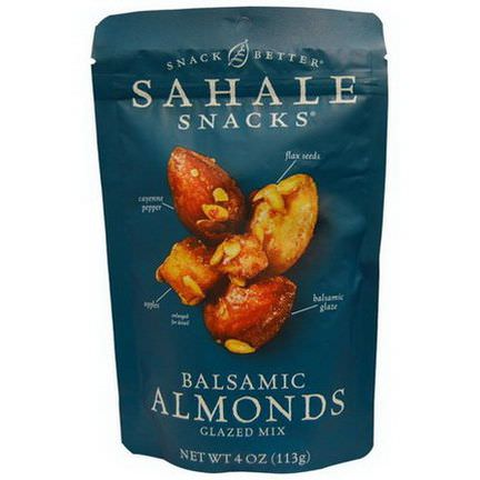 Sahale Snacks, Snack Better, Balsamic Almonds, Glazed Mix 113g