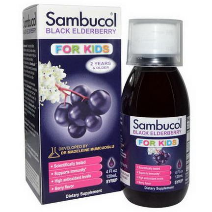 Sambucol, Black Elderberry, Immune System Support, For Kids, Syrup 120ml
