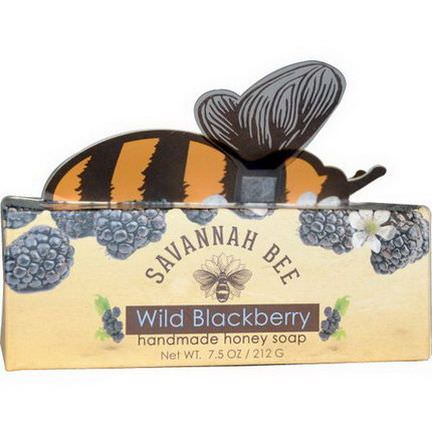 Savannah Bee Company Inc, Handmade Honey Soap, Wild Blackberry 212g