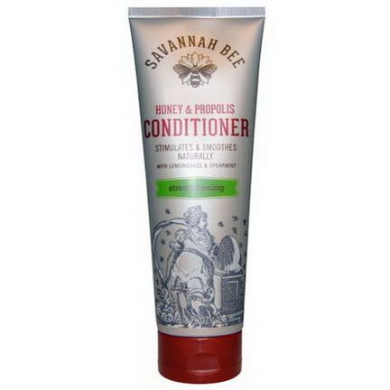 Savannah Bee Company Inc, Honey&Propolis Conditioner, with Lemongrass&Spearmint, Strengthening 236ml