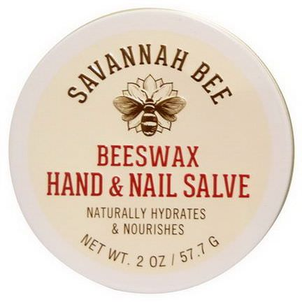 Savannah Bee Company Inc, Organic, Beeswax Hand and Nail Salve 57.7g